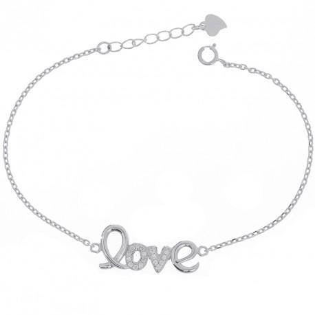 Pulsera Love silver