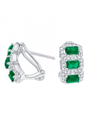 Pendientes Classic Purity Emerald