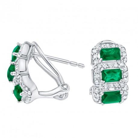 Pendientes Classic Purity Emerald