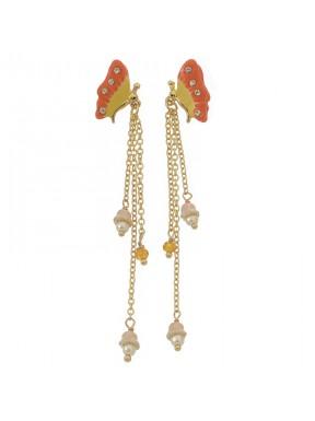 Pendientes Fly perlas naturales