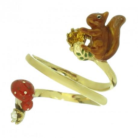 Anillo Squirrel chapado en oro