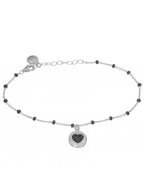 Pulsera Black Heart